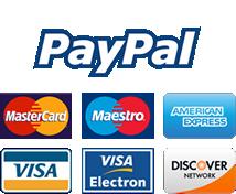 Pagamento online tramite PayPal e carte di credito